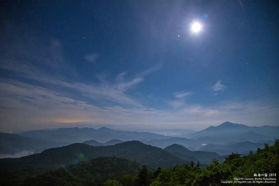 2018-06-23_月明かりで磐梯山